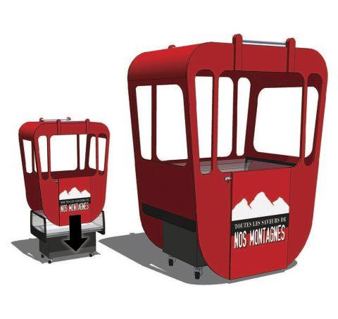 Décors concepts - cabine montagne teleski
